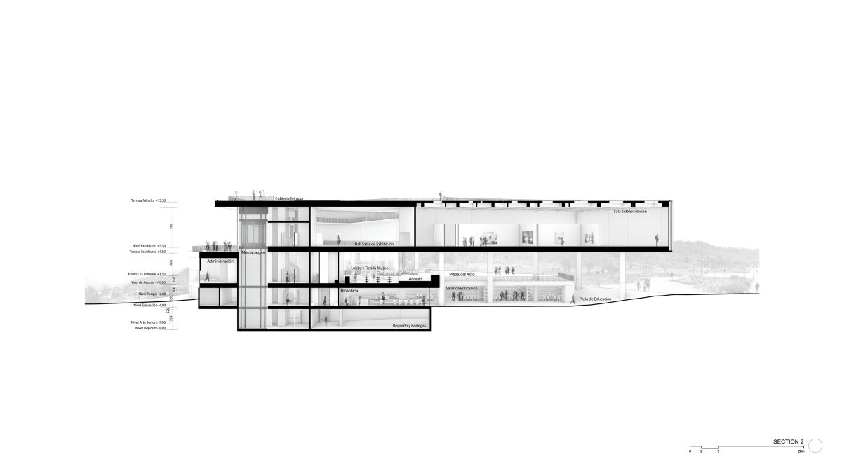 WINNING PROPOSAL FOR THE NEW SANTIAGO'S MUSEUM (NuMu), at Santiago, Chile, by Claudio C. Araya 52