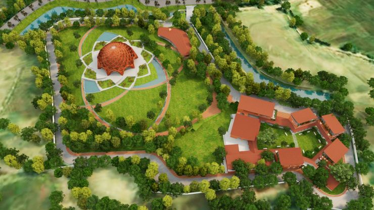Baha'I Temple at Bihar, an award winning proposal by Spacematters 1