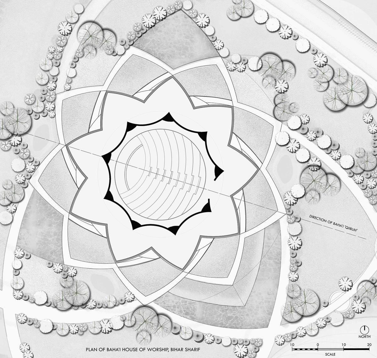 Baha'I Temple at Bihar, an award winning proposal by Spacematters 12