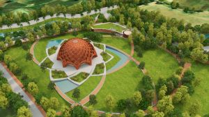 Award winning design: Baha'i temple, at Bihar, India, by Spacematters