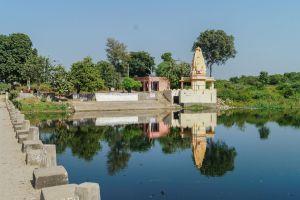 Goreshwar Moran River Front, at Rajasthan, by Impasto Building Workshop