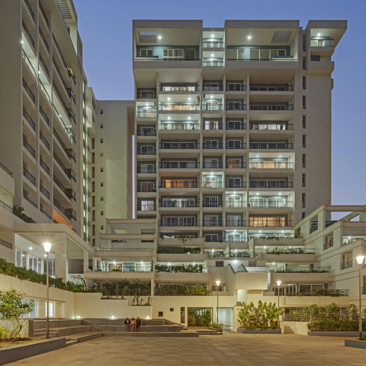 Terraced Residential Highrise, at Nallurhalli Road, Siddhapura, Bangalore, by CnT Architects 23