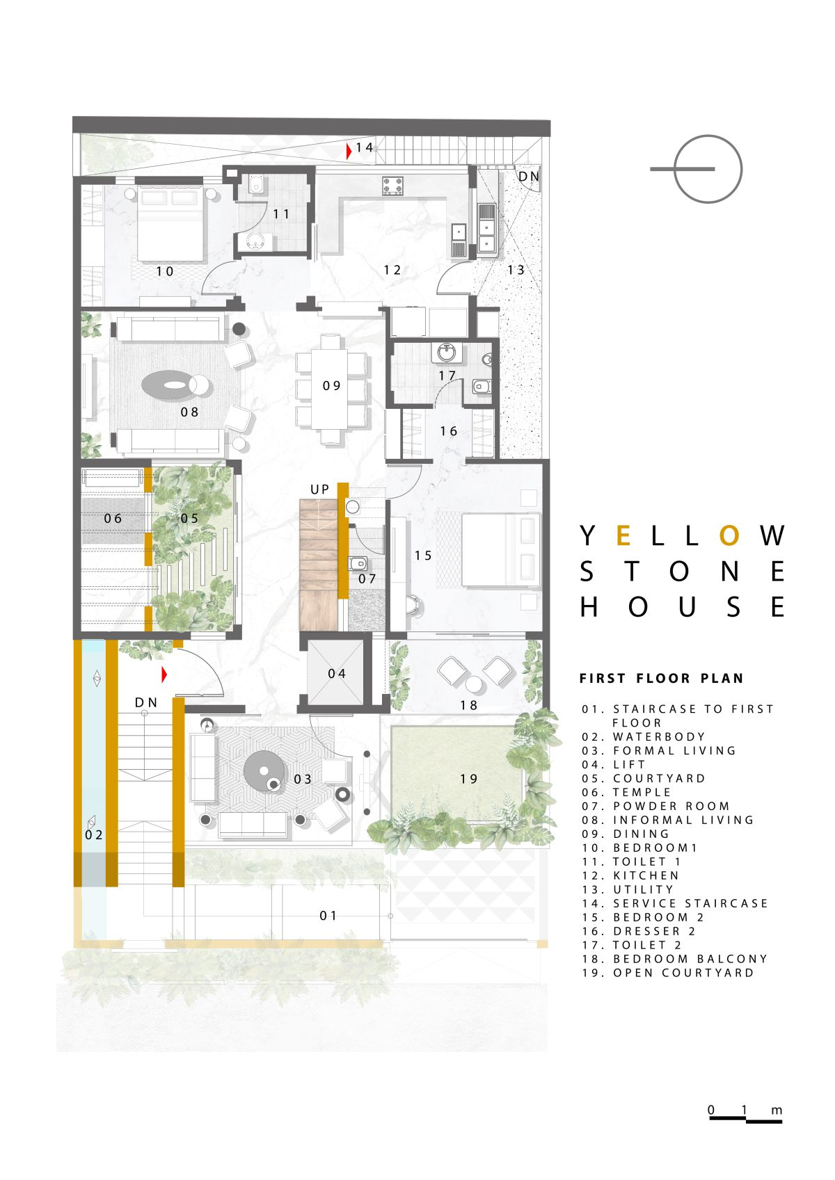 Yellow Stone House, at Indore, by Span Architects 67