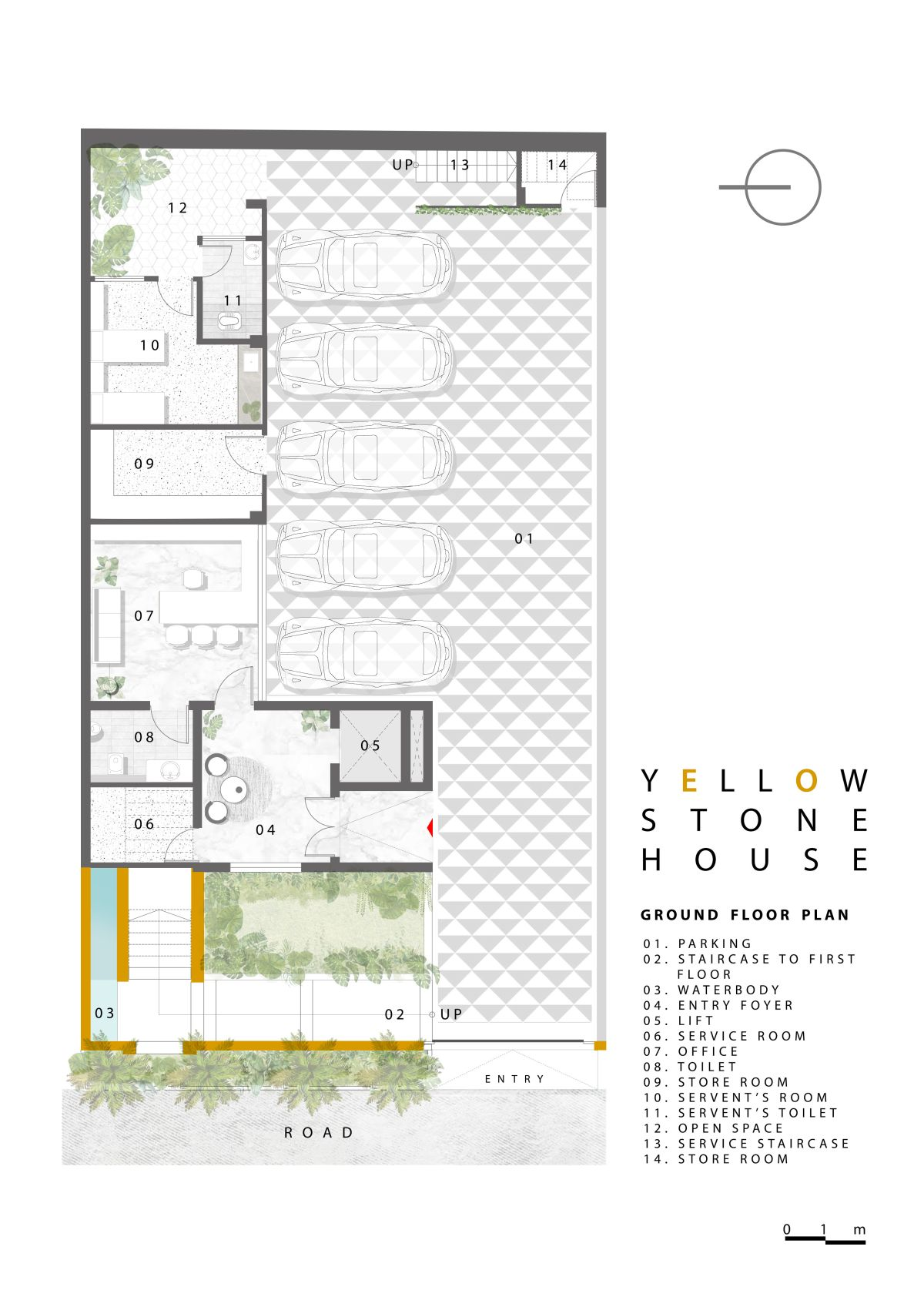 Yellow Stone House, at Indore, by Span Architects 61