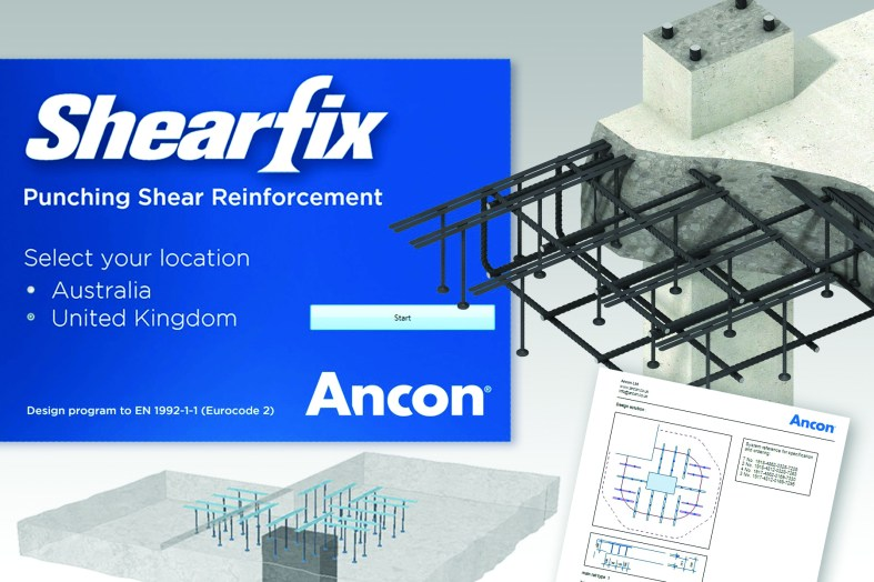 Ancon further enhances its Shearfix stud-rail calculation program