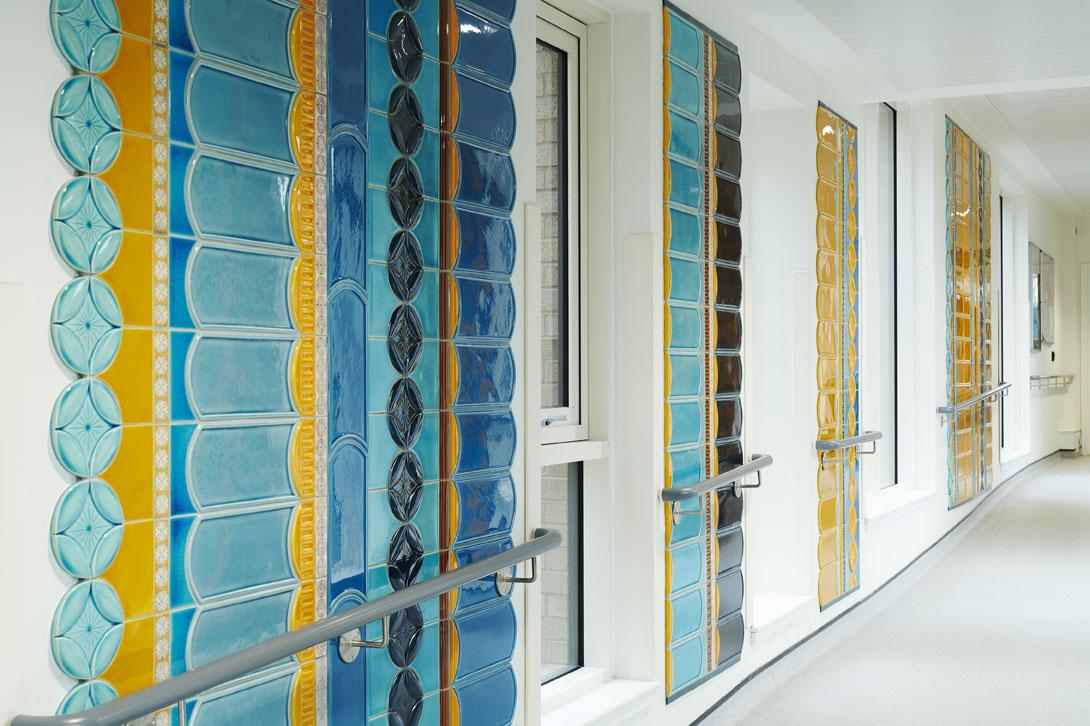 the tile corridor