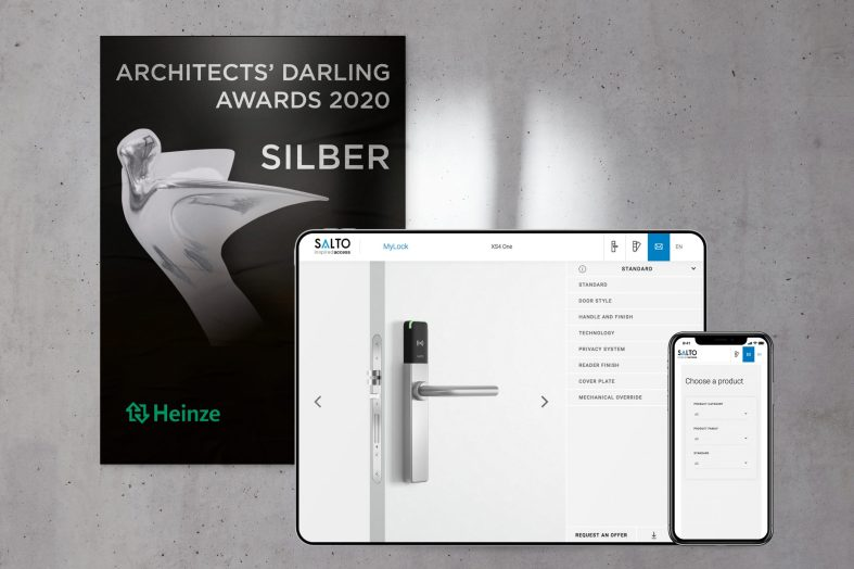 ARCHITECTS' DARLING AWARD for MyLock online configurator from SALTO