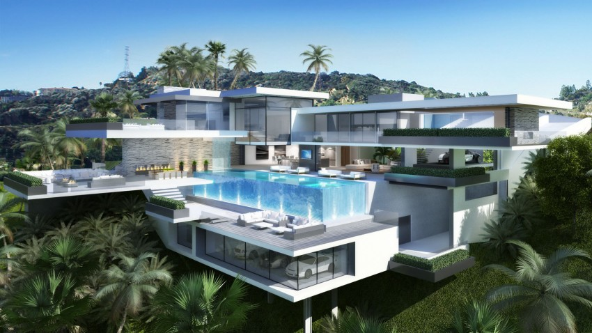 Two Modern Mansions on Sunset Plaza Drive in LA  Architecture  Design