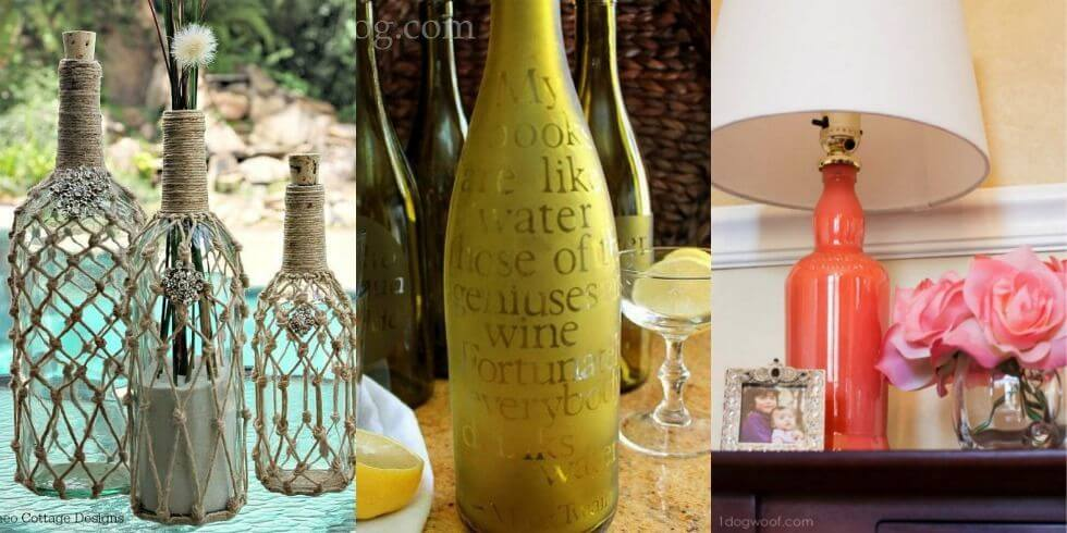 31 Creative DIY Wine Bottle Craft Ideas  Best Out Of