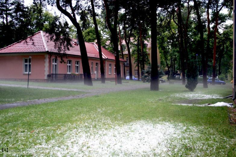 Unwetter über Wunsdorf mit Hagelschlag