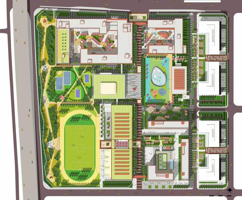 Projekt kampusu szkolnego