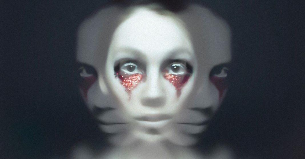 kobieta w mocnym makijażu