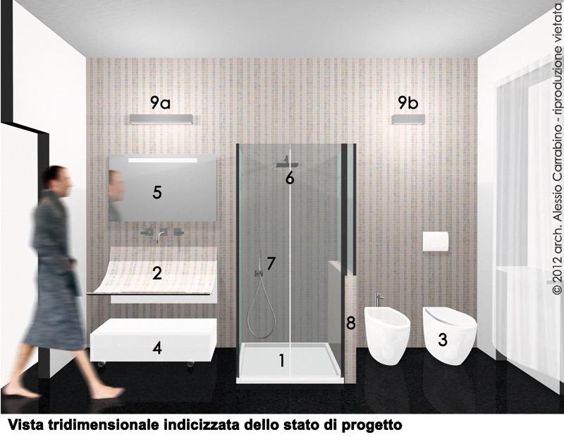 Progetto di ristrutturazione del bagno  ARCHITETTO CONSIGLIA