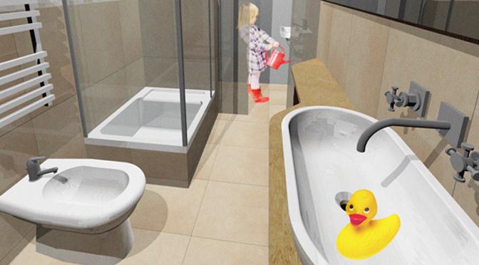 Progetto di ristrutturazione di un piccolo bagno
