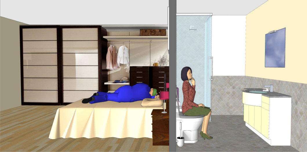 Camera da letto troppo vicina al bagnoArchitettura a domicilio