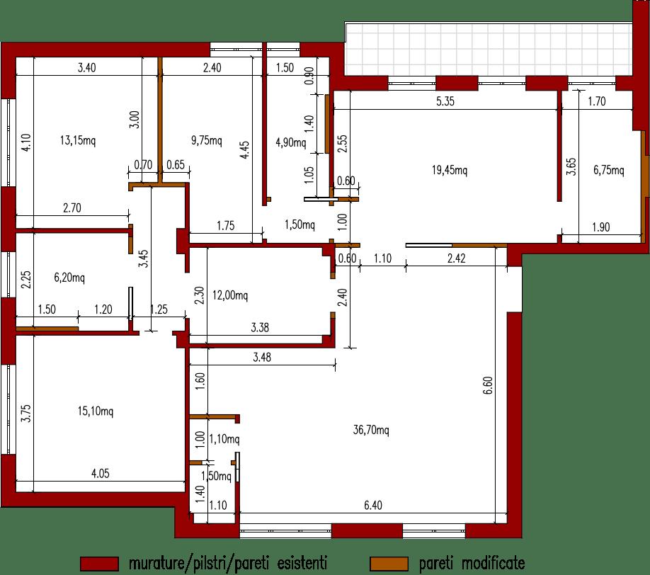 progetto 135 mqArchitettura a domicilio