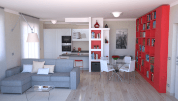 Progetto online 13 mq-Camera shabby chic-Architettura a domicilio®