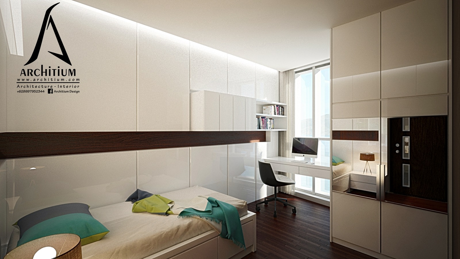 Interior-Apartment-Jakarta-Regatta-Bedroom B 2