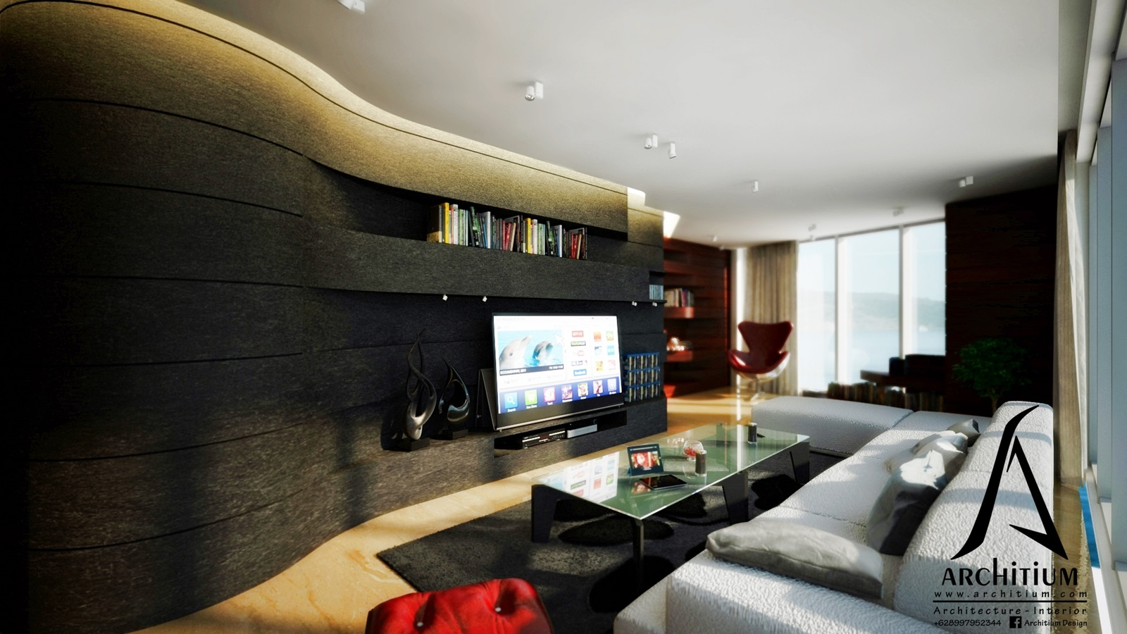 Interior-Apartment-Jakarta-Regatta-Living to Reading