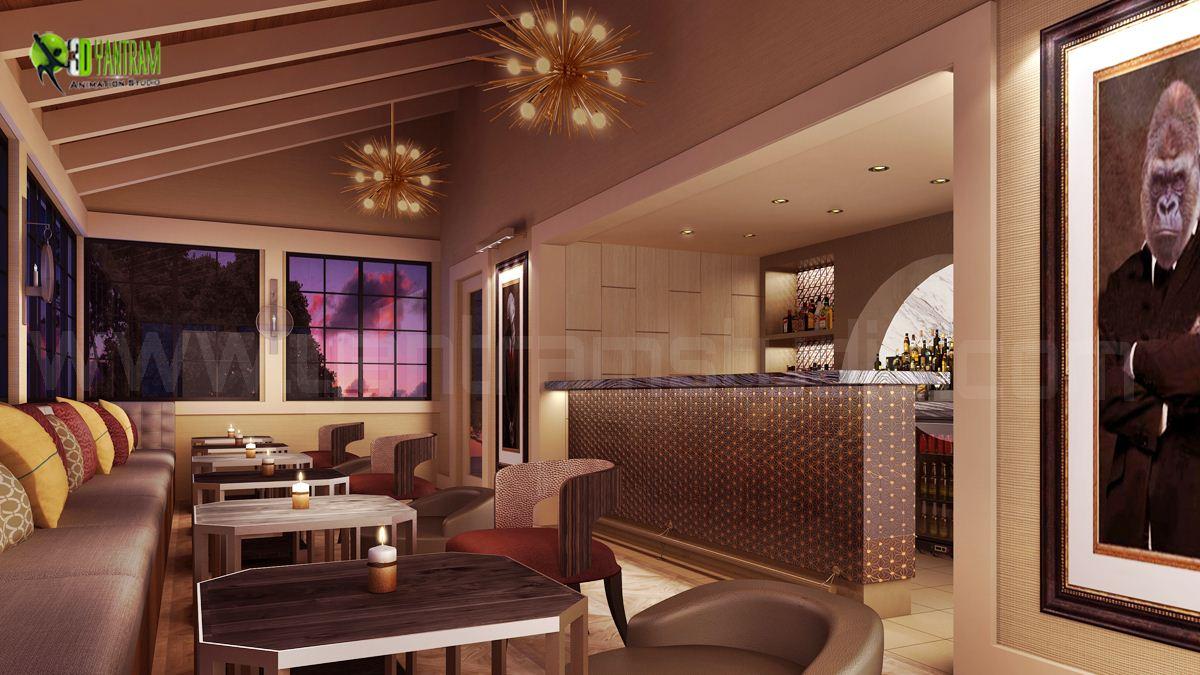 Restaurant 3D Interior Design