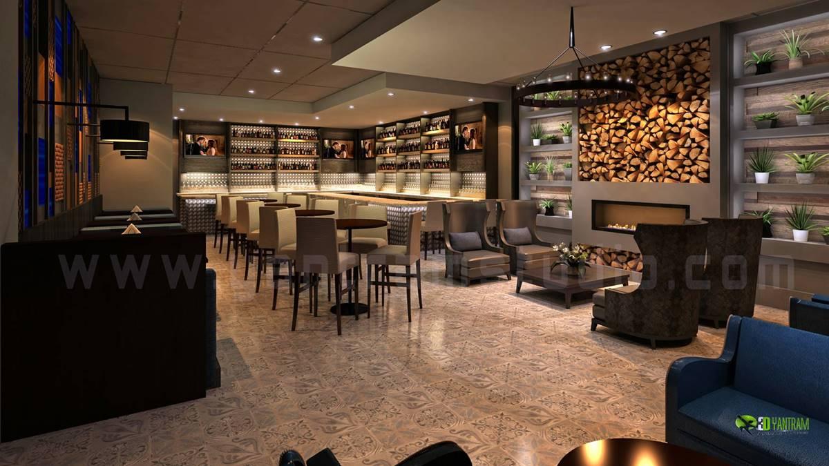 Modern Restaurant Bar Interior Design