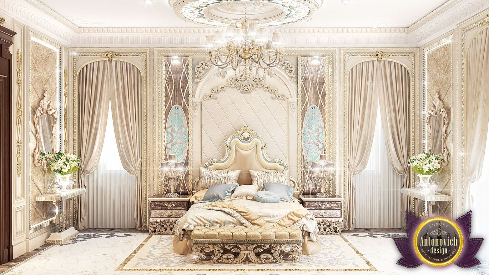 luxurious arabic style bedroom Luxury Royal Arabic Master Bedroom of Luxury Antonovich Design - Architizer
