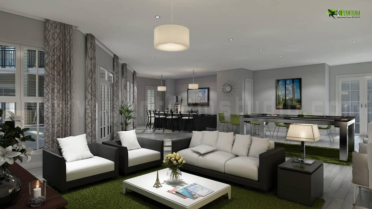 Luxury Living Room Interior Design & Ideas by Interior 3D Rendering   Architizer