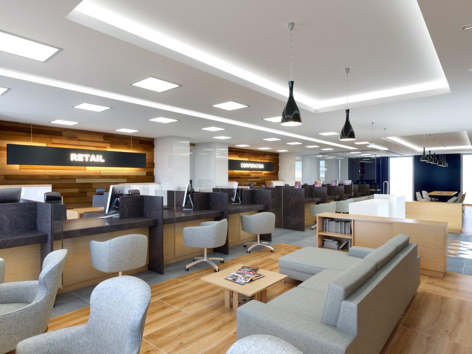 Bank Customer Lounge Interior renders  Architizer