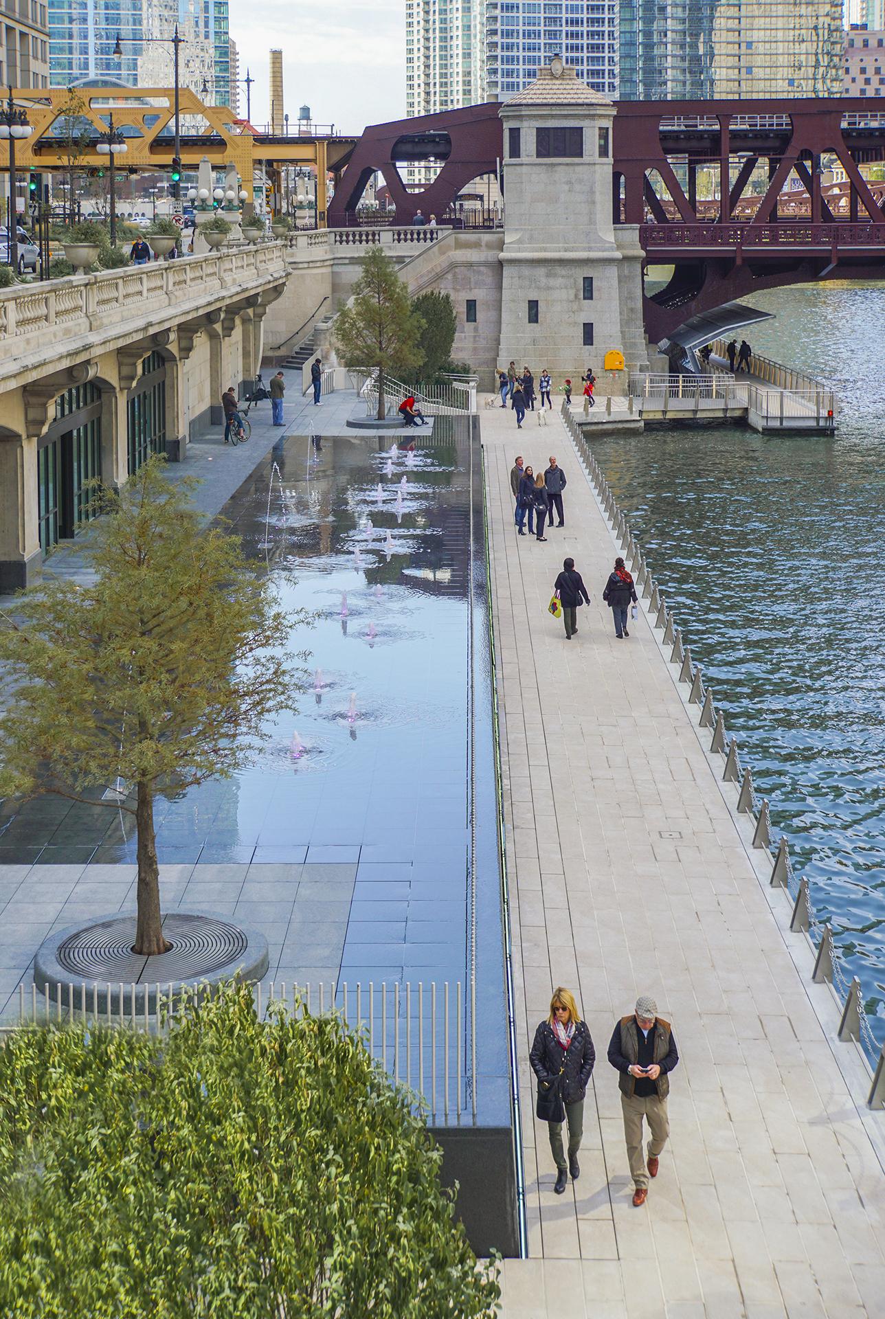 Chicago River Walk Water