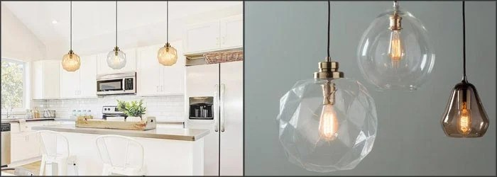 10 Classy Clear Glass Pendant Lights That Are Perfect For Kitchens