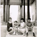 Photograph of Family at Chehel Sutun in Isfahan