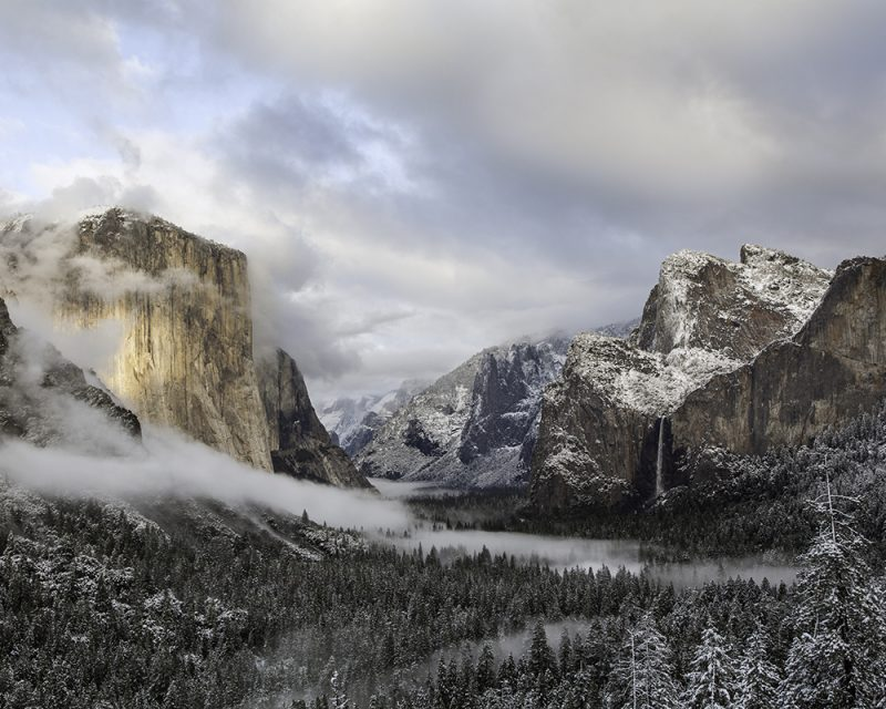 Winter Sunset, Tunnel View by Mike Reeves