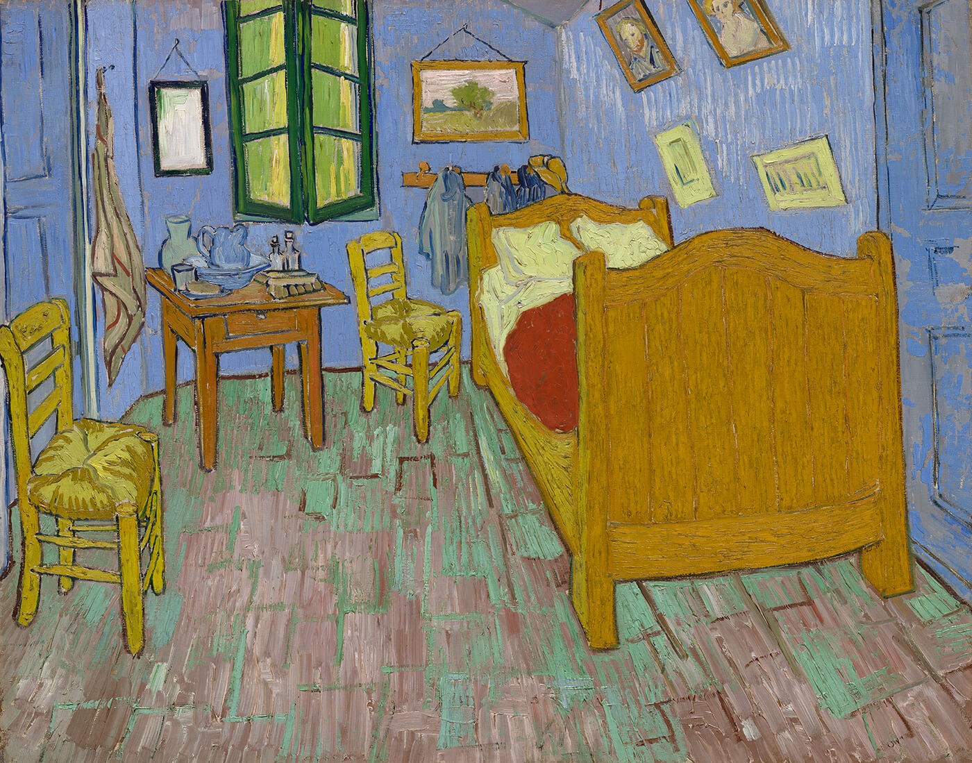 yellow bedroom chair grey stretch covers the explore paintings van gogh s bedrooms em detail