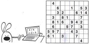 Կրնա՞ս ամբողջացնել տախտակը իւրաքանչիւր ուղղահայեաց եւ հորիզոնական շարքերուն, ինչպէս նաեւ 3x3 տուփիկներուն մէջ դնելով 1 - 9 թիւերը: