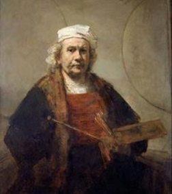 «Ինքնանկար` երկու շրջանակներով»: Գծուած` 1665-1669-ին: