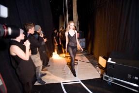 Backstage at Friedrich Gray