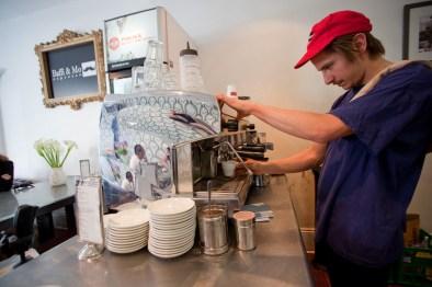 The barista has a genuine Mo at Baffi and Mo