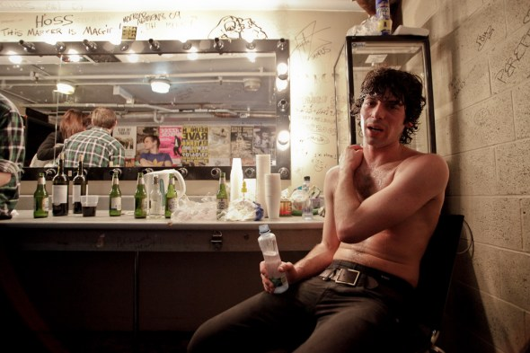 Jake, moments after finishing a show at The Metro. June 2009