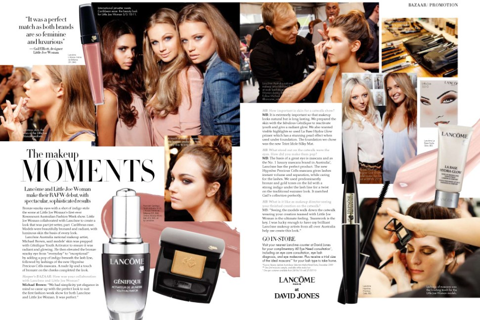 A spread in Harper's Bazaar illustrated by my photos