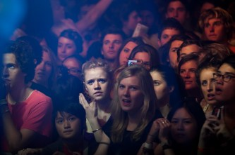 Adelaide crowd watching Yeasayer