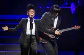 Janelle Monae and her guitarist Kellindo Parker