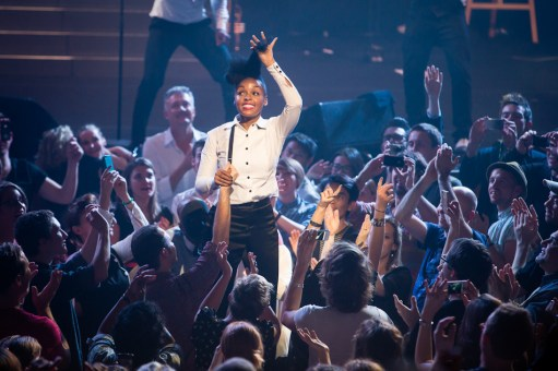 Janelle Monae gets acquainted with her audience