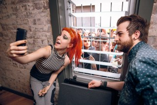 Paramore backstage at the Enmore Theatre