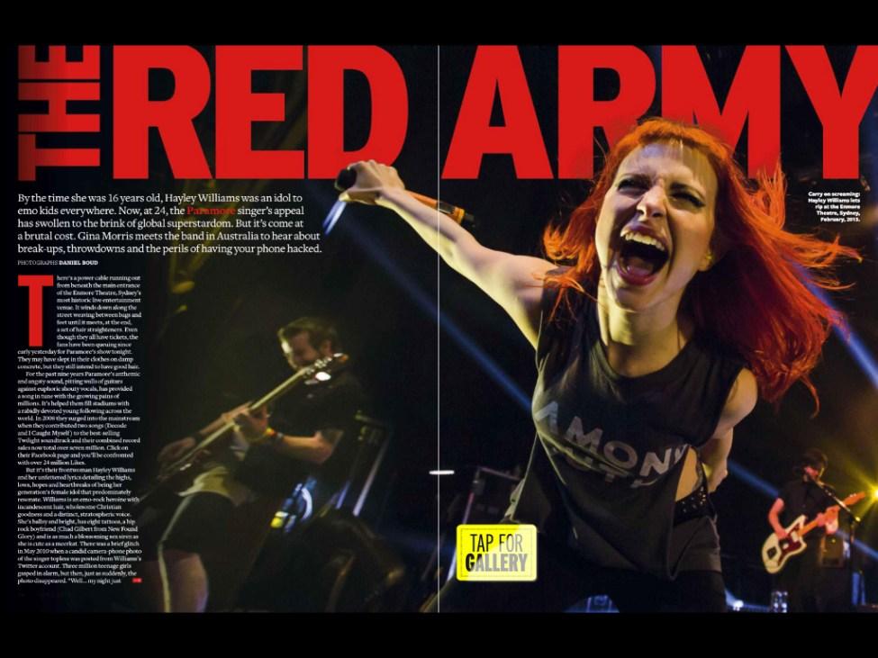 Paramore feature in Q magazine