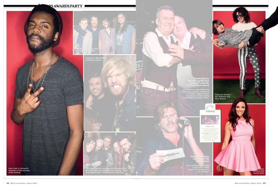 Rolling Stone Awards layout