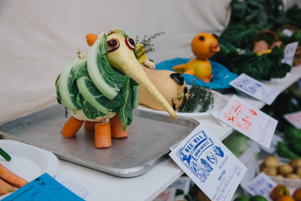 """First prize for """"Animal or figure made from fruit or vegetable"""""""