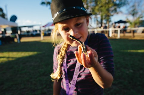 Josie with her pet turtle Crinkles, winner of the Smallest Pet at Wee Waa show