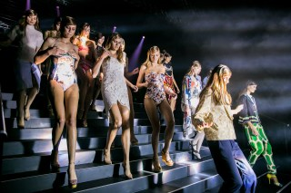 Backstage the models exit the ceiling runway Prix de marie claire 2013