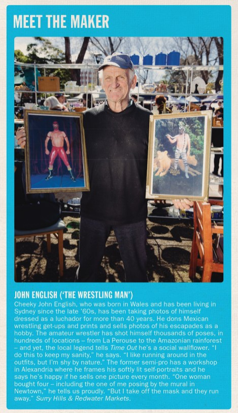 John English, the dude who sells wrestling photos at Surry Hills Markets