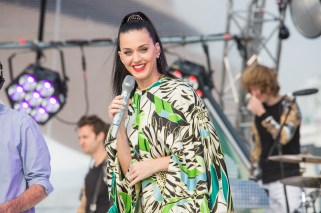 Katy Perry performs outside the Sydney Opera House for Sunrise